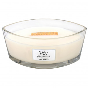 "Bild 1 von 2 - WoodWick® Ellipse Glass ""Baby Powder"" (1 St.)"