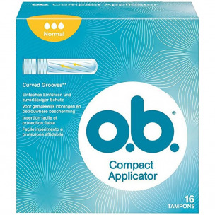 Bild 1 von 1 - o.b. Compact Applicator Normal (16 St.)
