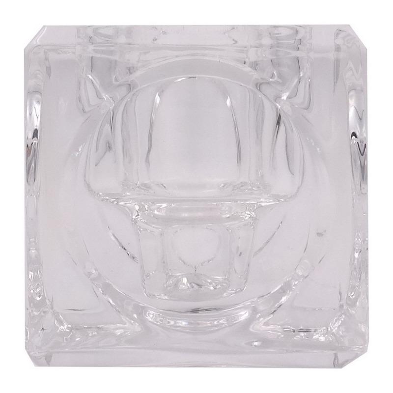 kerzenhalter aus glas f r stabkerzen und teelichter 1 st. Black Bedroom Furniture Sets. Home Design Ideas