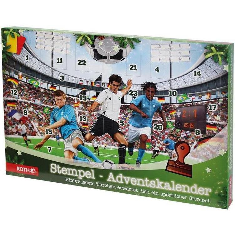 Stempel Adventskalender Fussball 24tlg